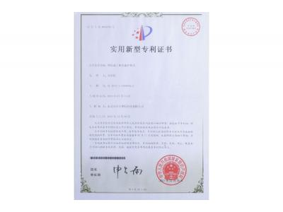 Plastic processing die protection device-patent certificate